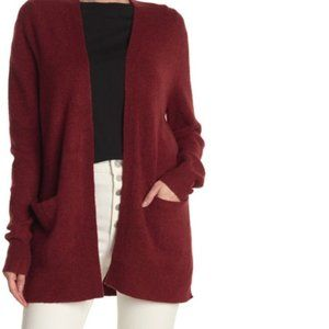 Madewell Patch Pocket Open Front Cardigan Scarlett